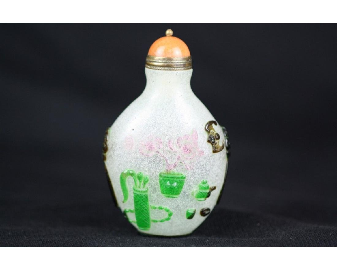 Chinese Beijing Glass Snuff Bottle - 2
