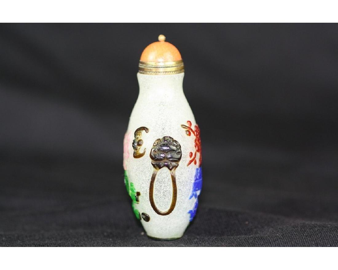 Chinese Beijing Glass Snuff Bottle - 3