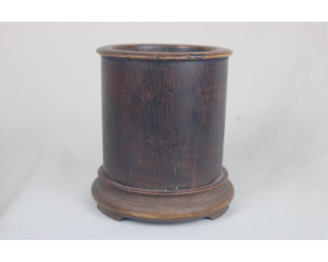 Chinese Rose Wood Brush Pot