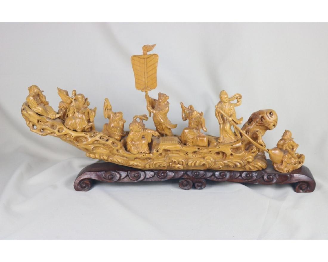 Chinese Box Wood Figure