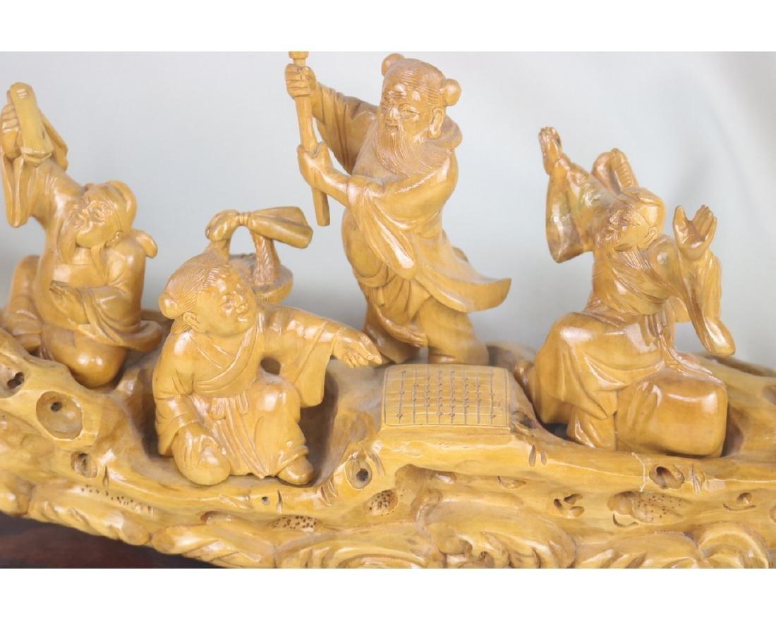 Chinese Box Wood Figure - 2