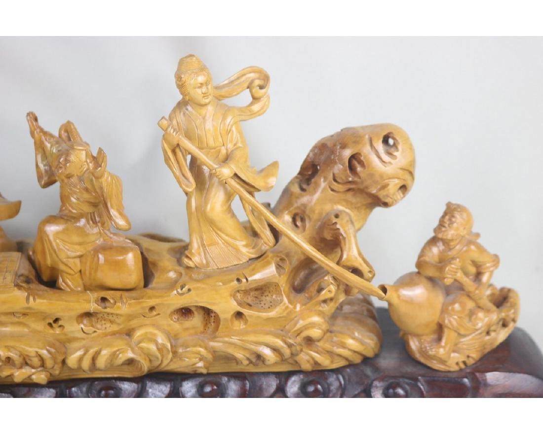 Chinese Box Wood Figure - 4