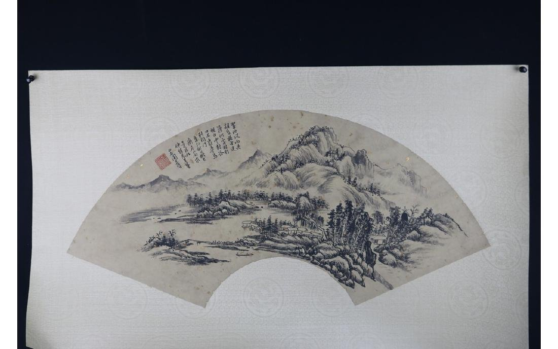 Chinese Fan Shape Painting