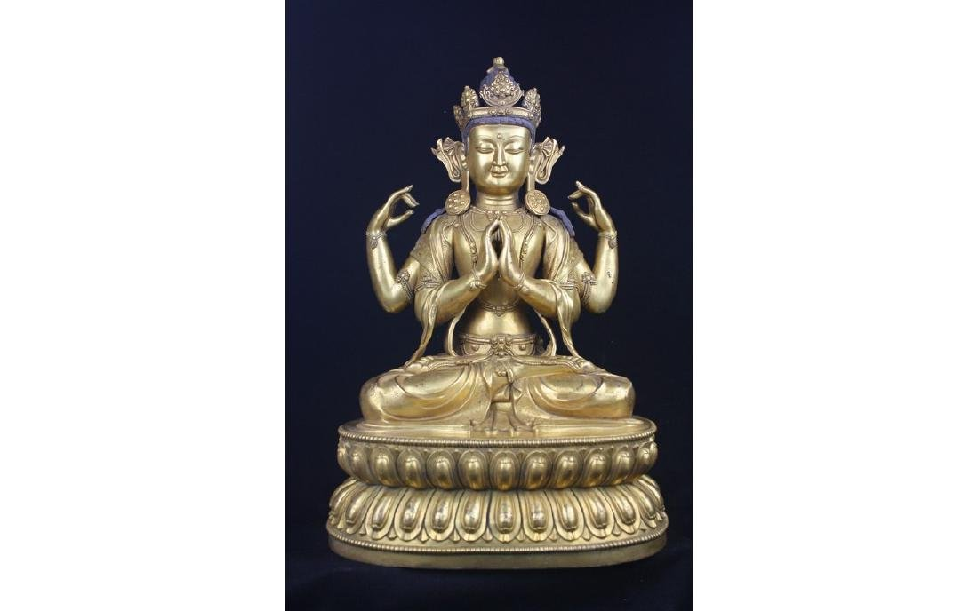 Chinese Large Bronze Buddha