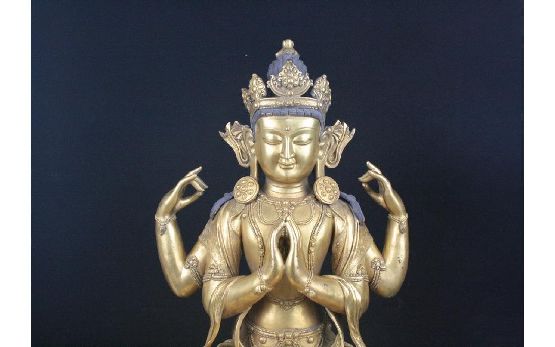 Chinese Large Bronze Buddha - 2