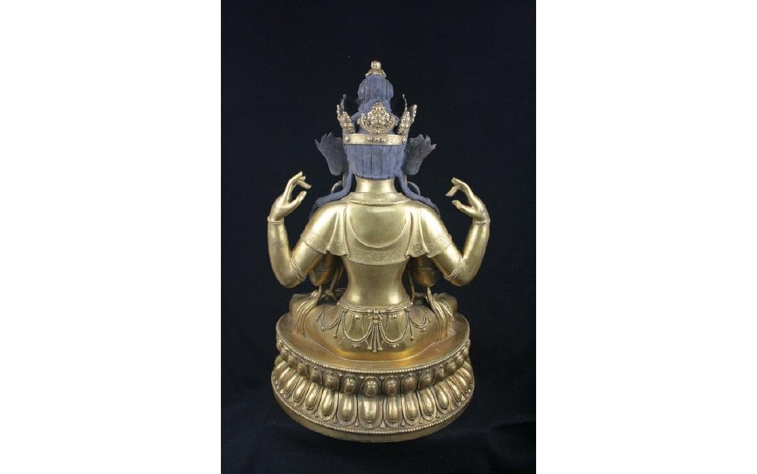 Chinese Large Bronze Buddha - 4