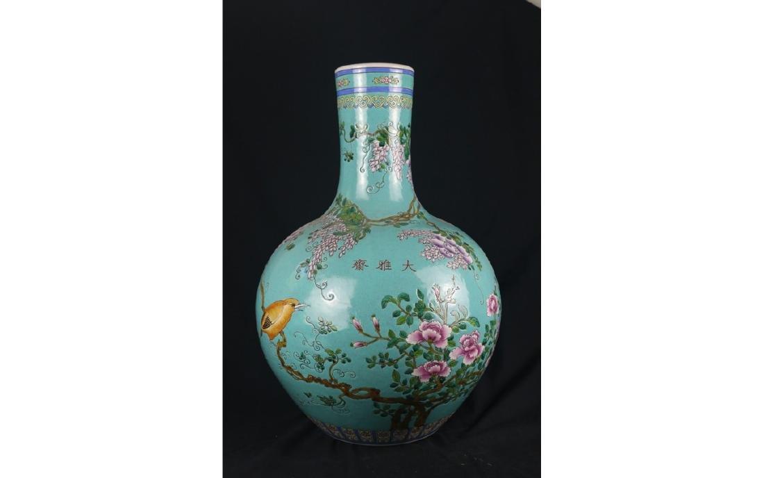 A Large Famille Rose Porcelain Vase