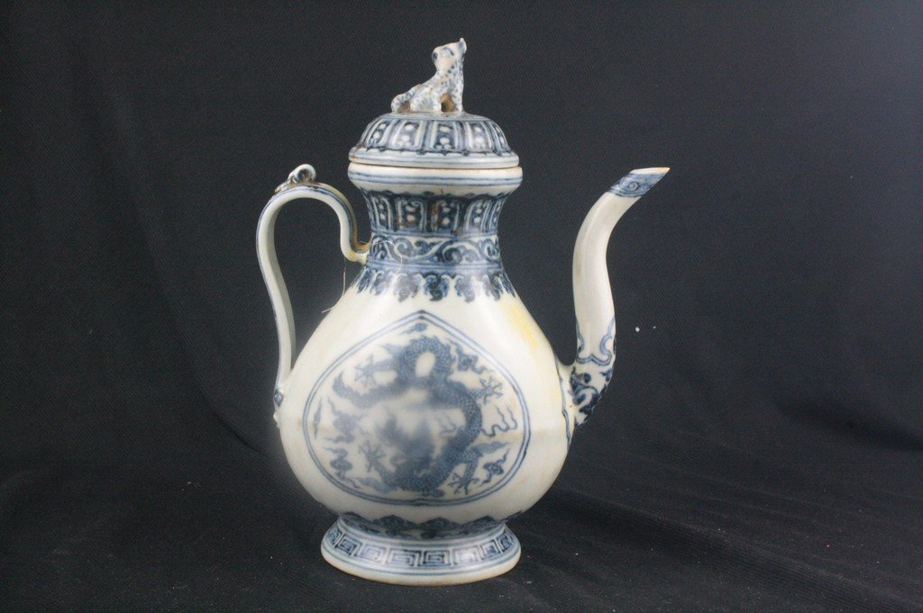 Chinese Blue and White Porcelain Ewer - 3