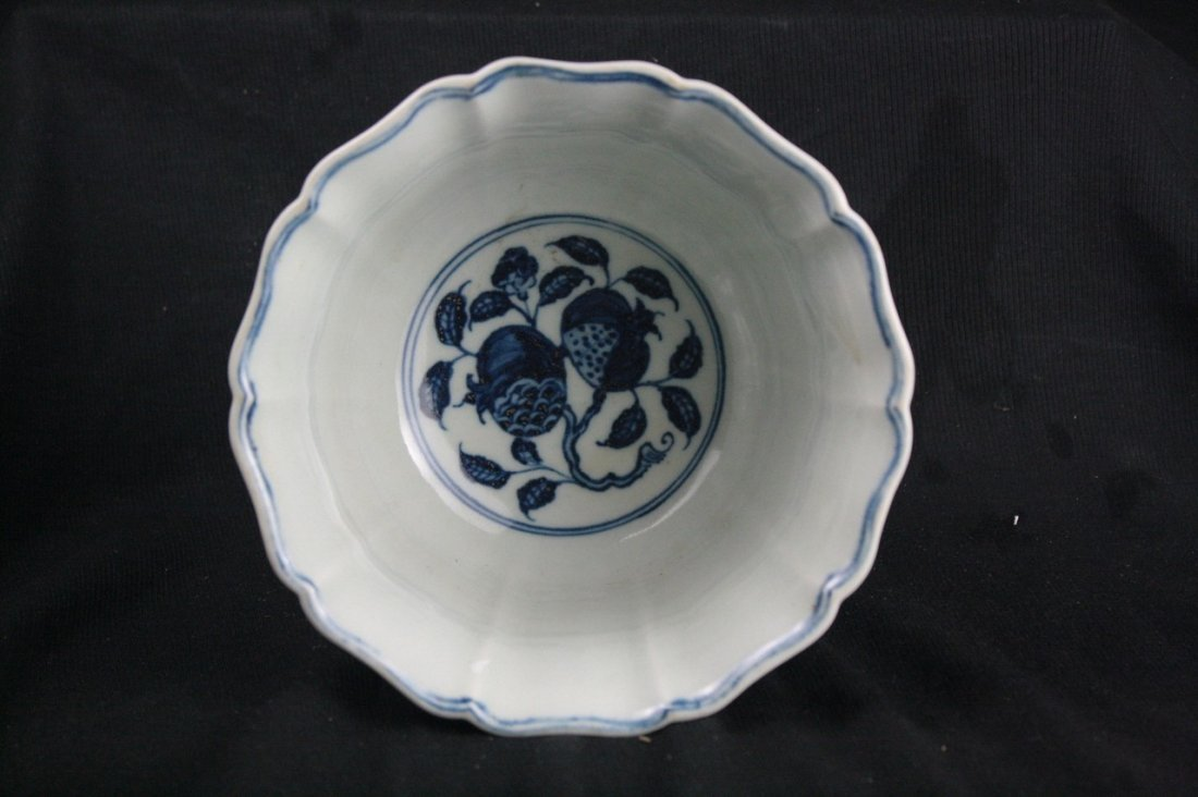Chinese Blue and White Porcelain Stem Cup - 3