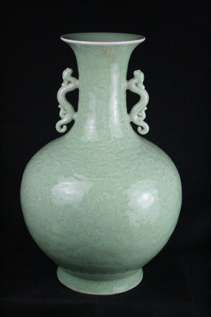 Chinese Celadon Glazed Porcelain Vase - 2