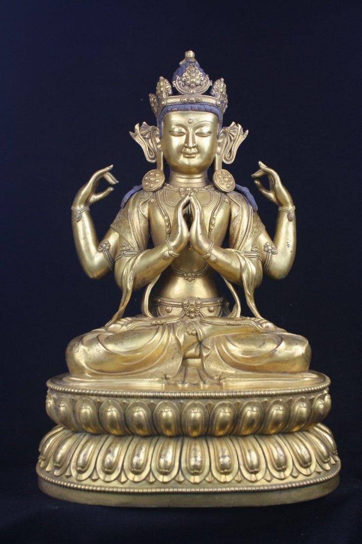 Chinese Large Bronze Buddha