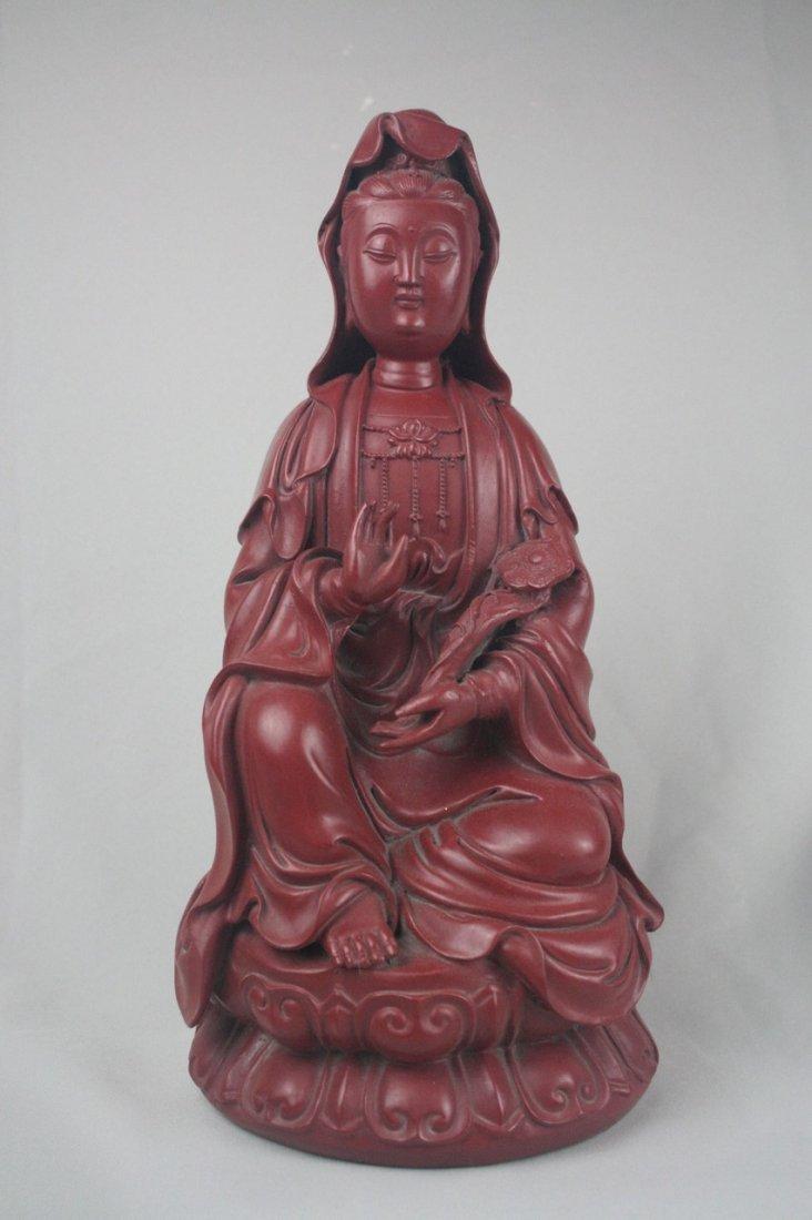 Chinese Lacquer Guan Yin