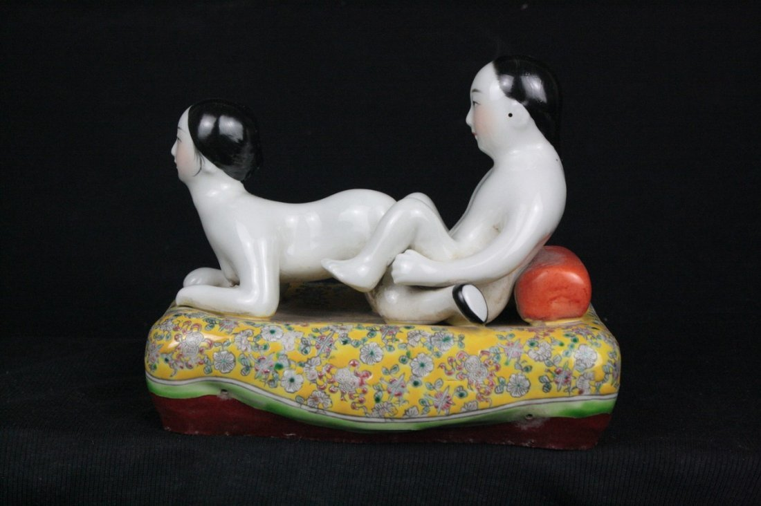 Chinese Famille Rose Porcelain Figure