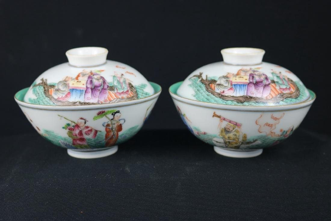 Pair of Chinese Famille Rose Porcelain Bowl