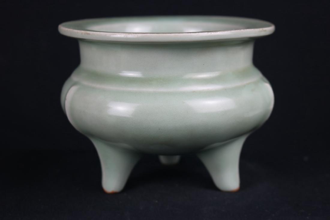 Chinese Celadon Glazed Porcelain Censer - 2