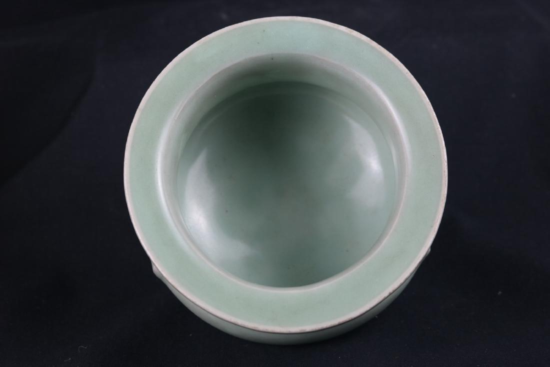 Chinese Celadon Glazed Porcelain Censer - 3