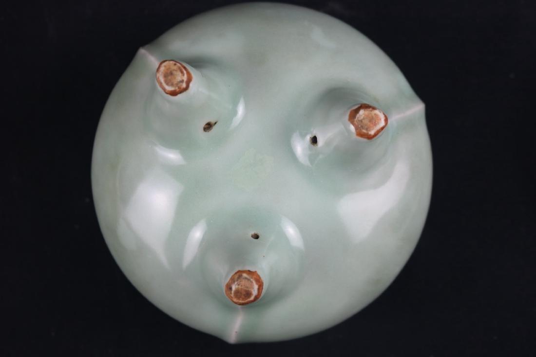 Chinese Celadon Glazed Porcelain Censer - 4