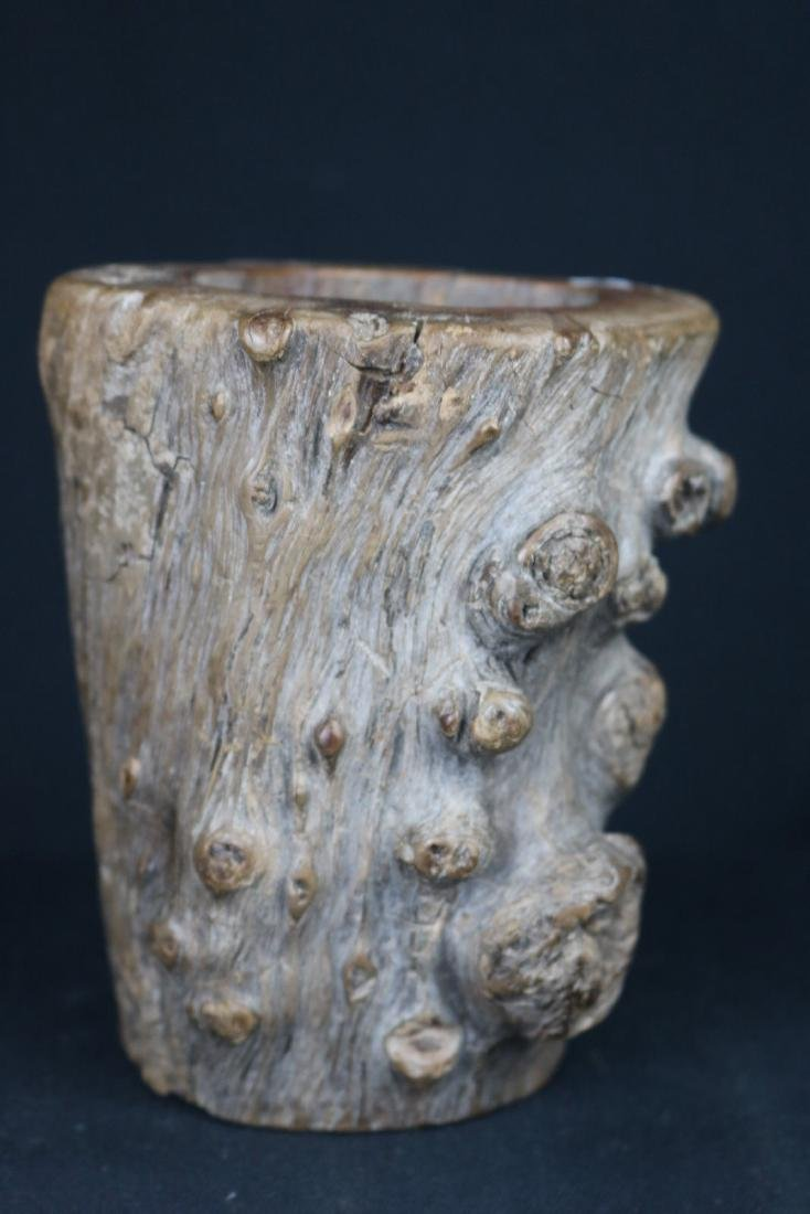 Chinese Ancient Wood Brush Holder