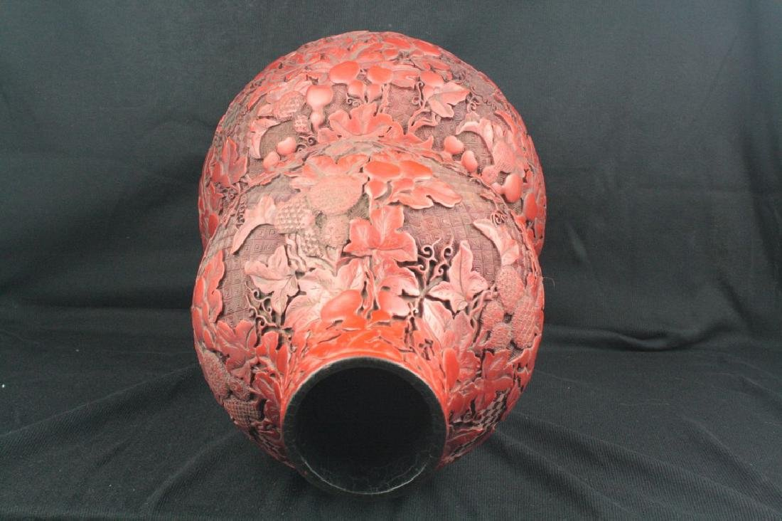 Chinese Lacquer Double Gourd Vase - 4