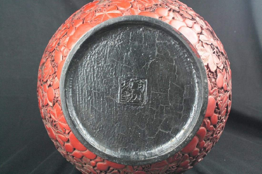 Chinese Lacquer Double Gourd Vase - 5