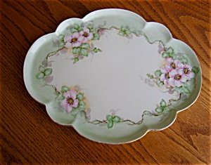 363473: GDA Limoges Hand Painted Porcelain Tray
