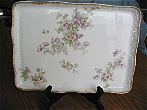 363521: Delinieres Limoges Porcelain Tray