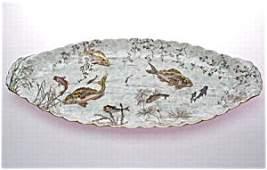 363583: Tressemann & Vogt Limoges Fish Platter ~ Rare!