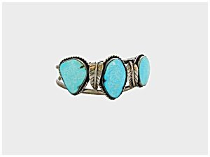 365282: Silver Turquoise Cuff Bracelet