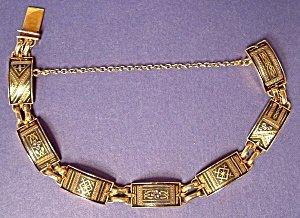 365287: Antique Link Bracelet Victorian Renaissance Rev