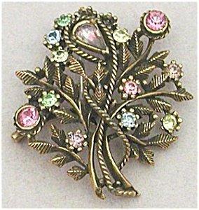 365301: Vintage Large Flower Pastel Coro Pin