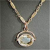 369996: 18K WITH AMETHYST SEAL PENDANT WITH CHAIN