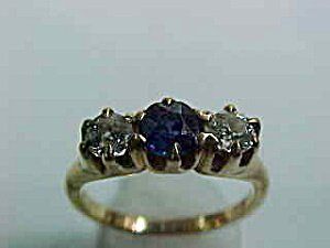 367631: Diamond and Sapphire Ring