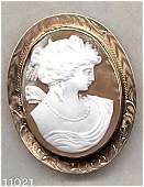 367991: Goddess Psyche Cameo Brooch/Pendant