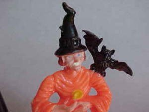 373412: Old Halloween witch with blk kettle
