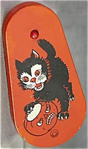 373416: Vintage Halloween Black Cat Noise Maker