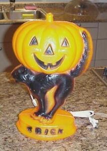 373456: Jack O'Lantern Halloween Lamp Empire 1960's