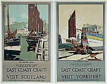 373619: Vintage Poster - PAIR by MASON - LNER 1930'S.
