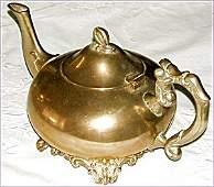 373684: Remarkable 19th c Art Nouveau Heavy Bronze Teap