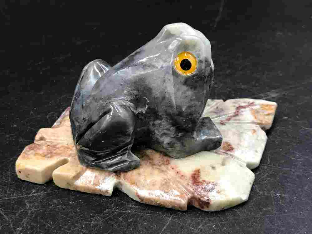 Soapstone, Rock, Collectible, Carving, Frog