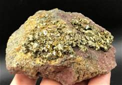 Chalcopyrite Rock Crystal Natural Collectible
