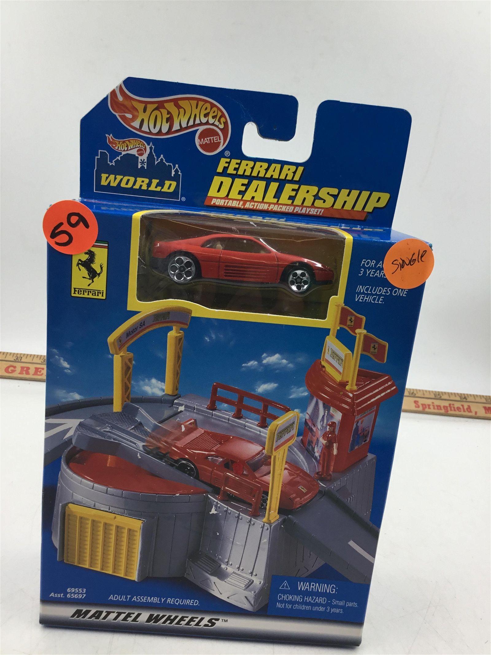2000 Hot Wheels Ferrari dealership play set