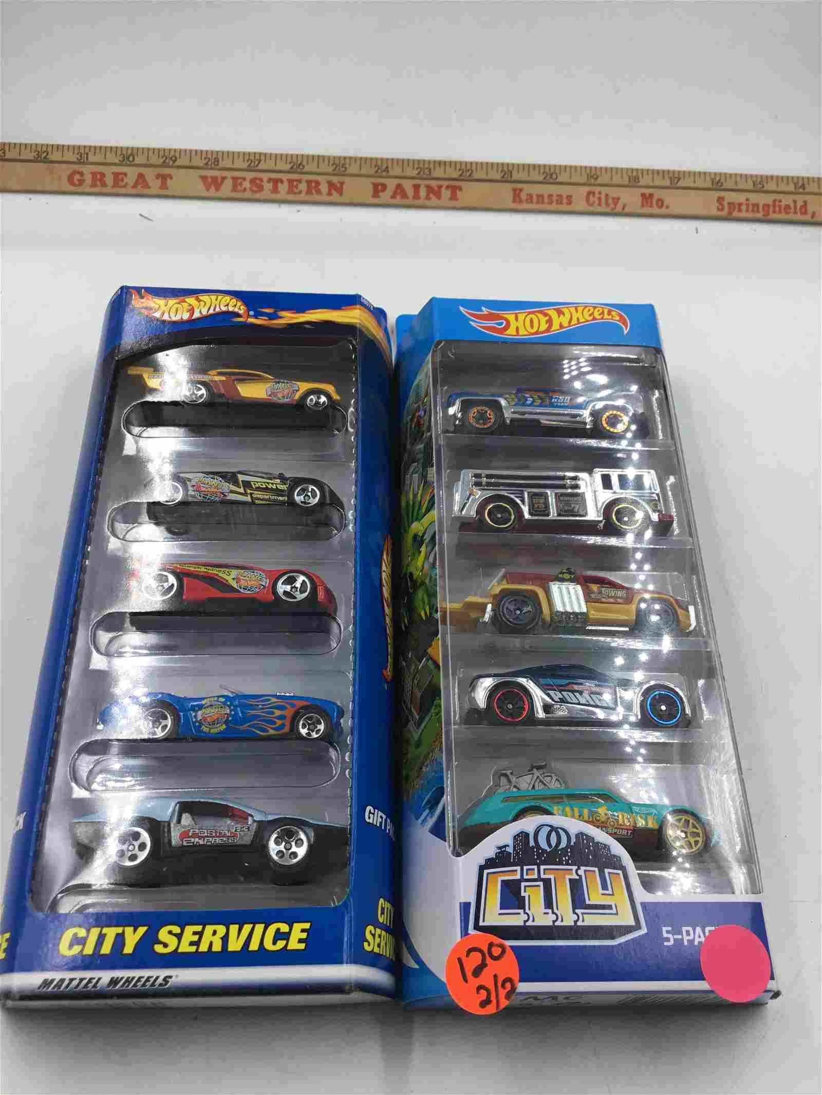 2 set of Hot Wheels City Service Then and Now