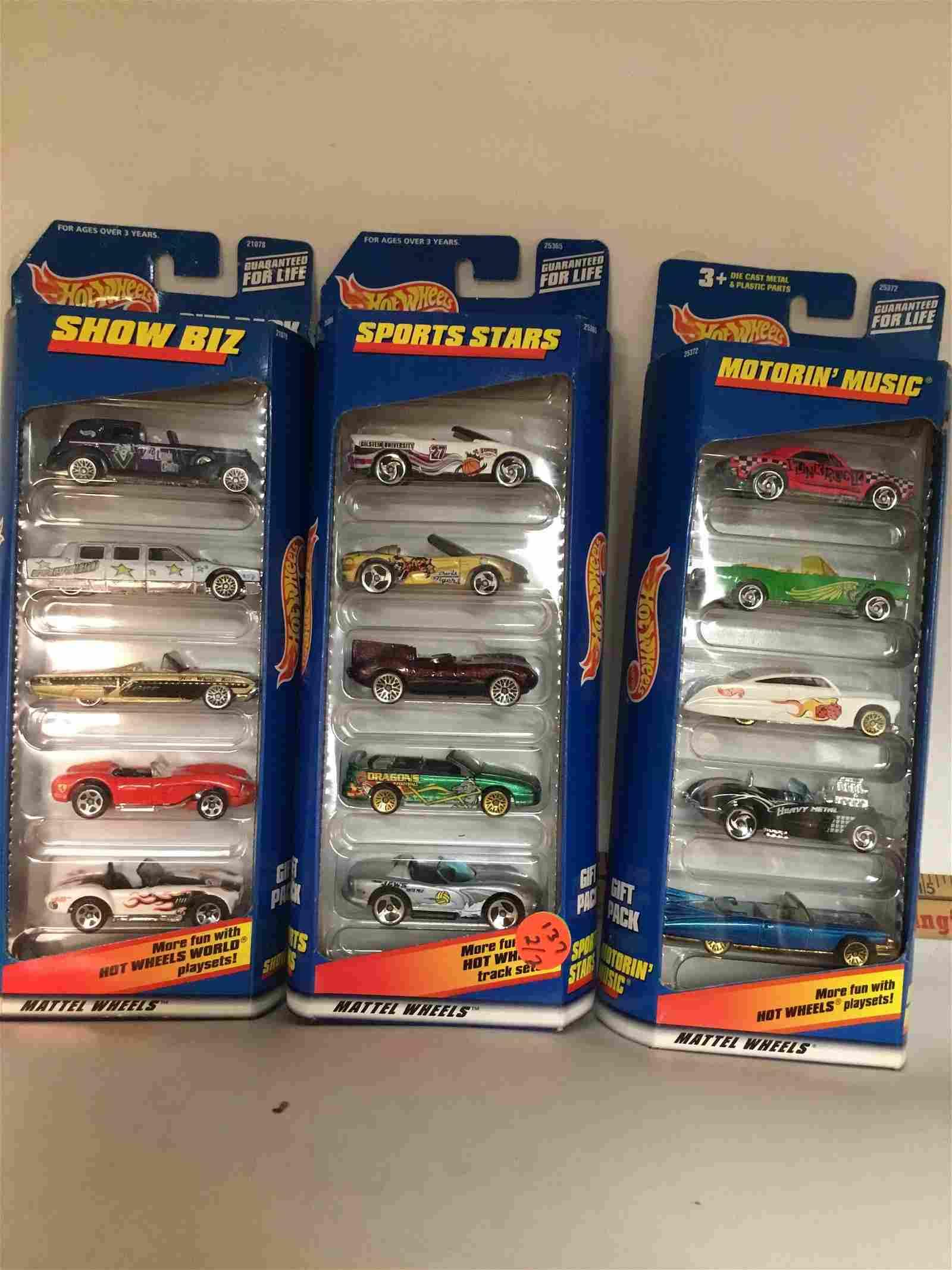 Set of 3 Hot Wheels Motorion Show Cars 5 Packs
