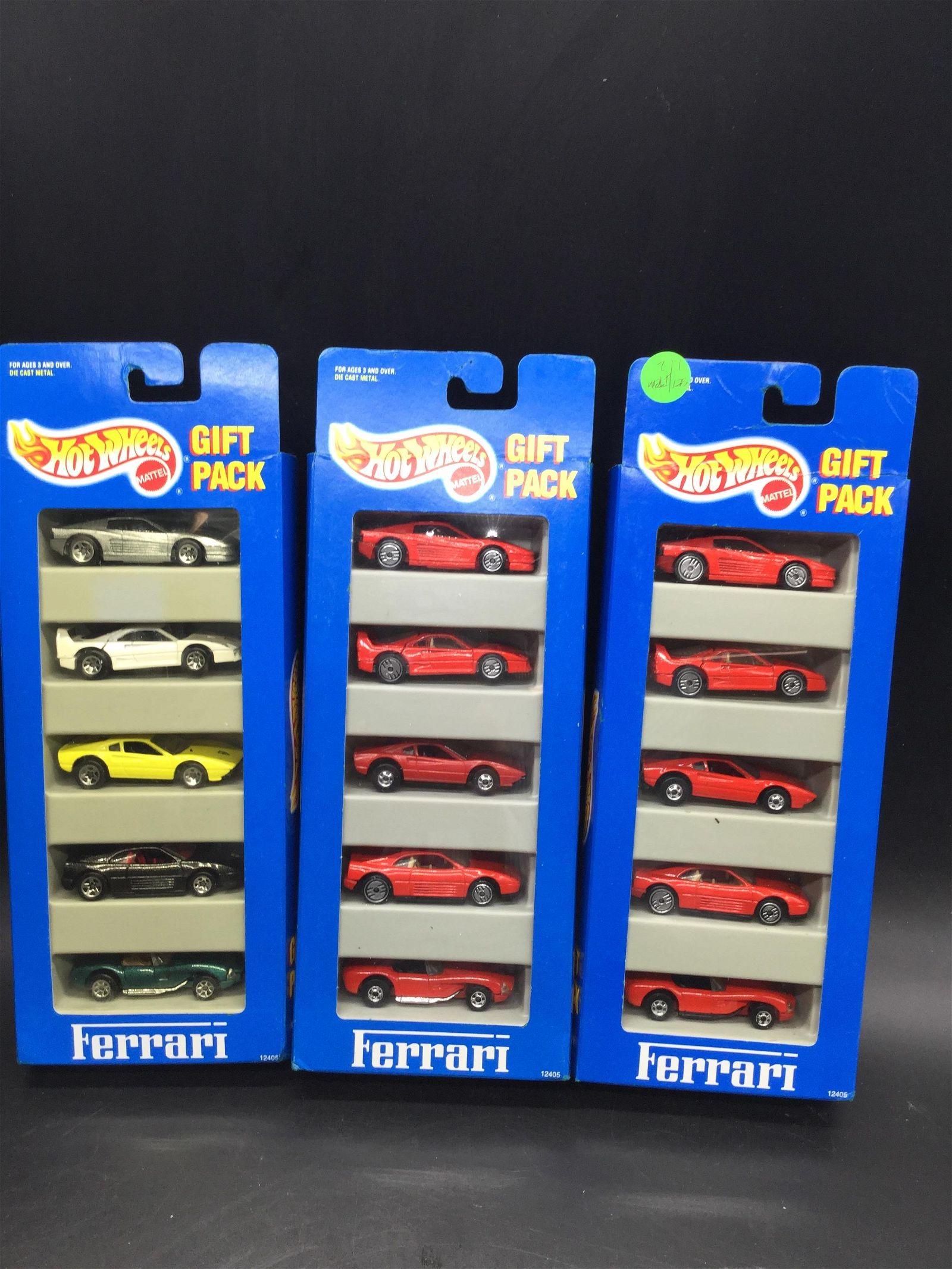 3 Hot Wheels gift packs of Ferrari
