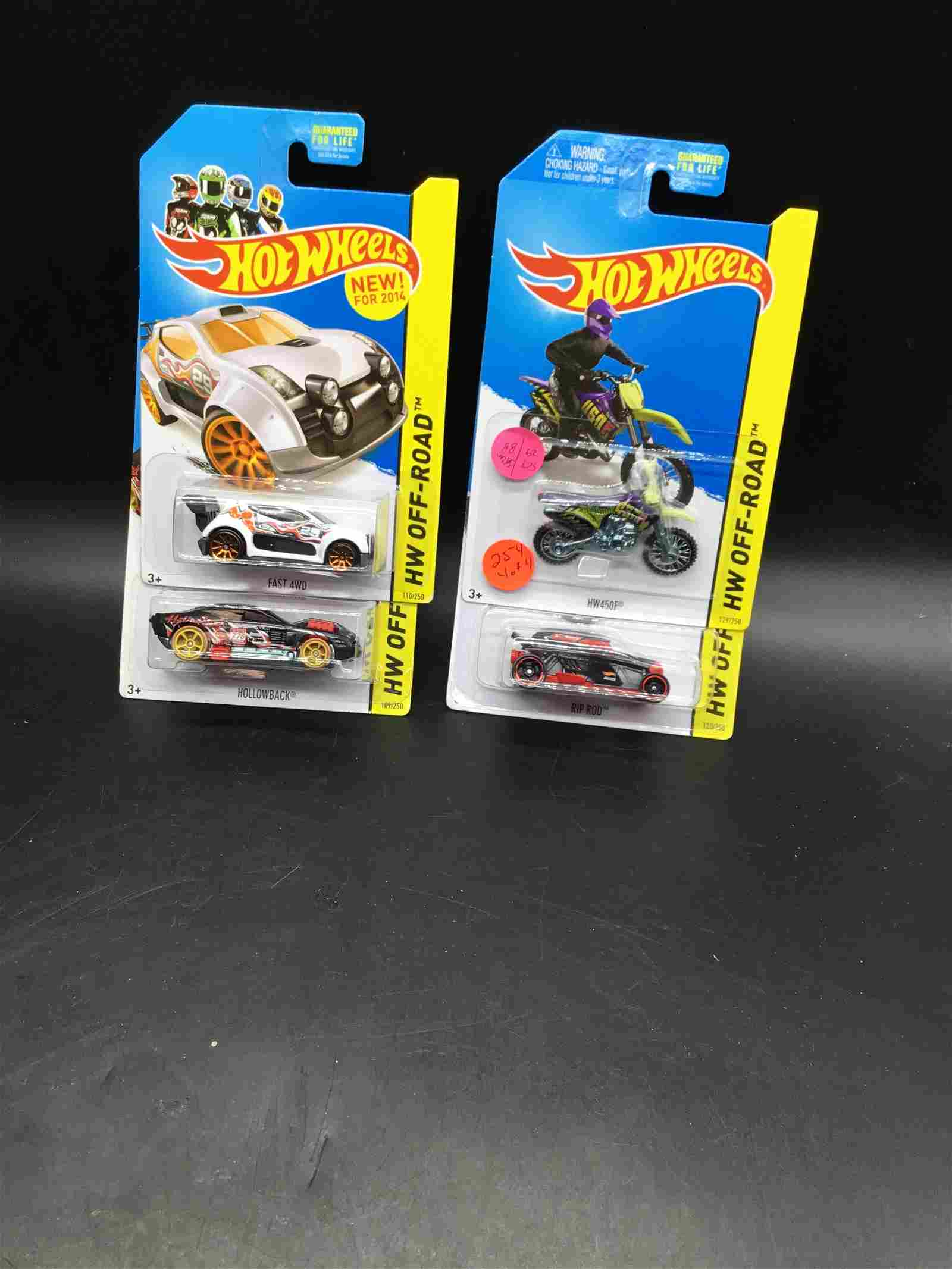4 car set of Hot Wheels 2014 Off Road Mix