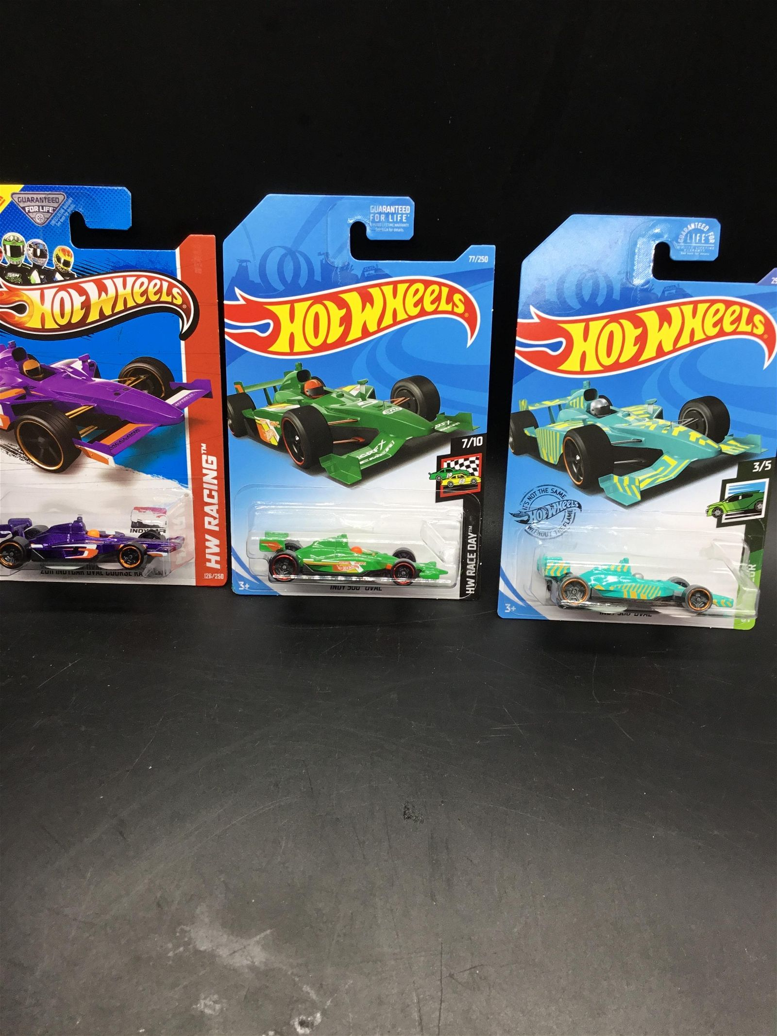 Set of 3 Hot Wheels Indy Oval cars
