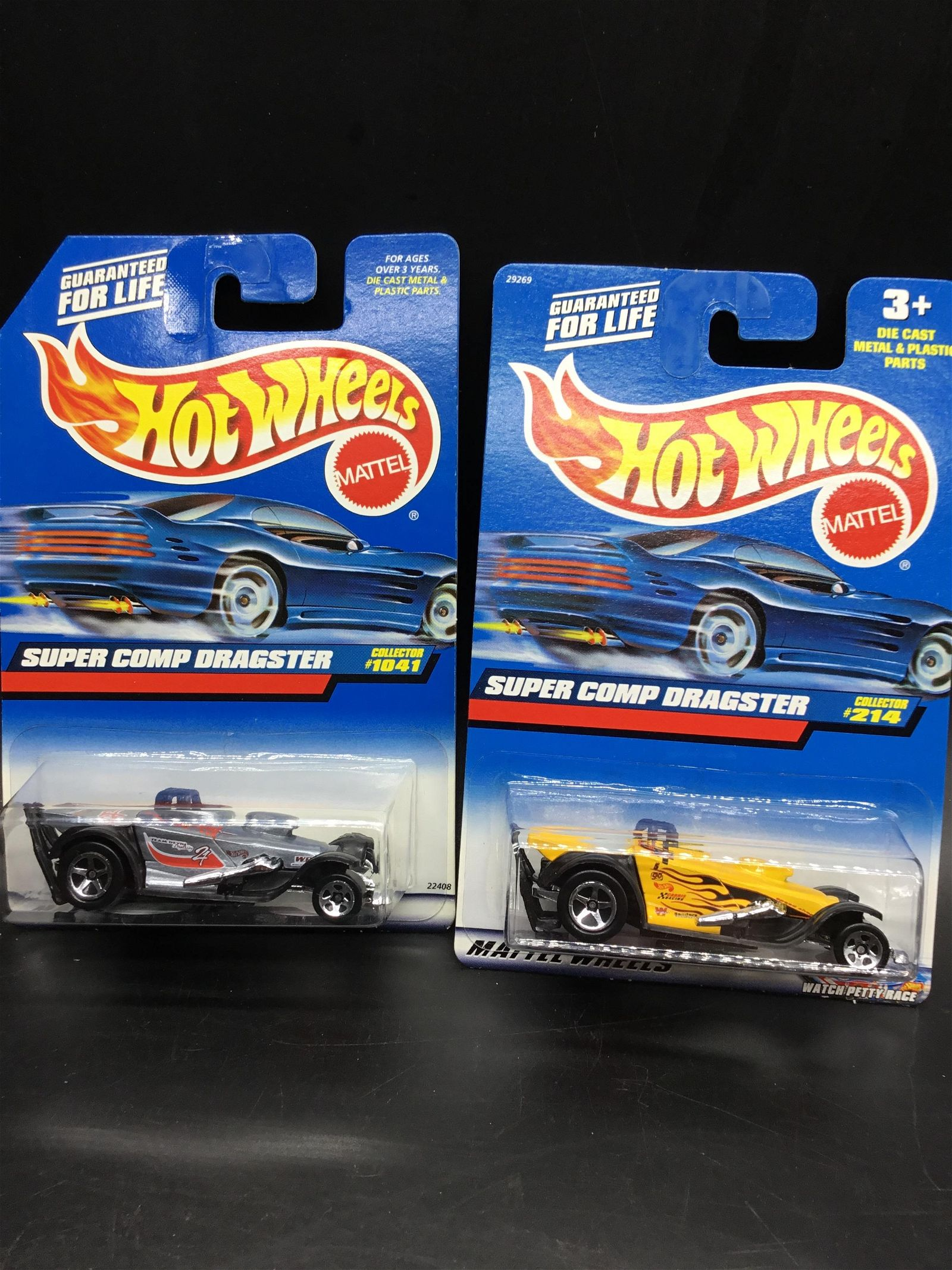 Set of two Hot Wheels Super Comp dragster
