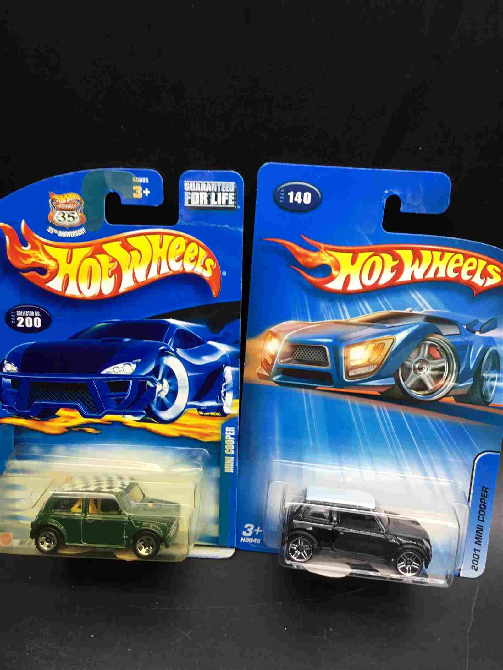 Two sets of Hot Wheels Mini Coopers