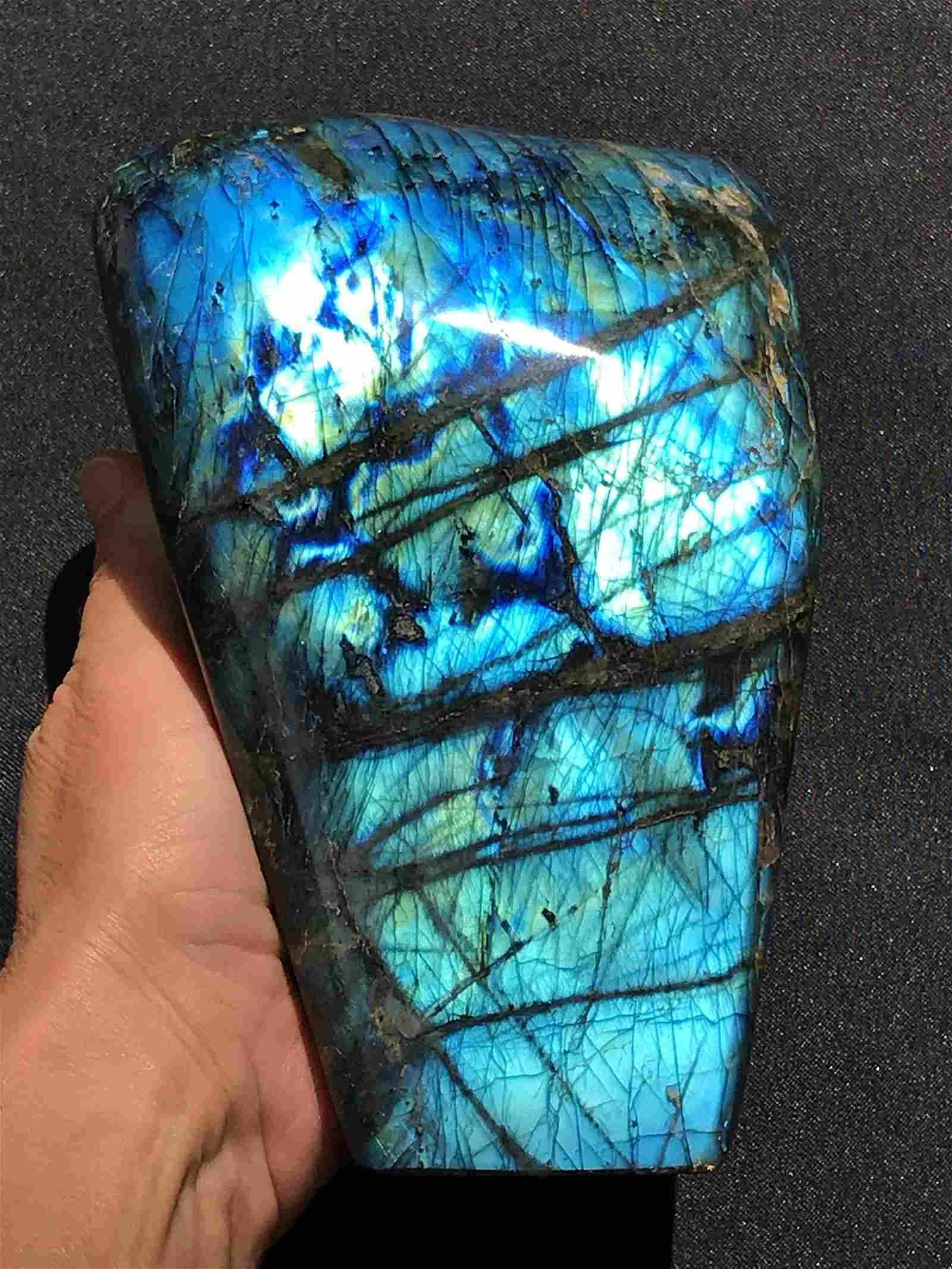 Rock, Crystal, Natural, Decor, Collectible, Labradorite