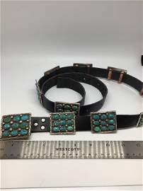 Turquoise encrusted belt